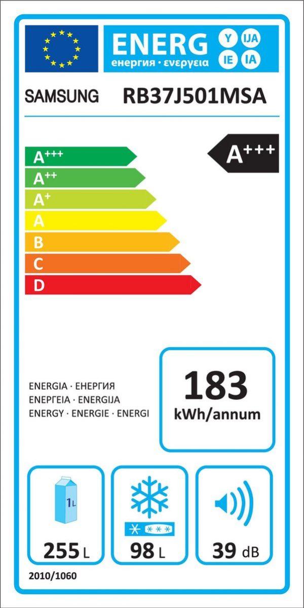 TOPSELLERS.BE Samsung RB37J501MSA enrgie label topsellers.be