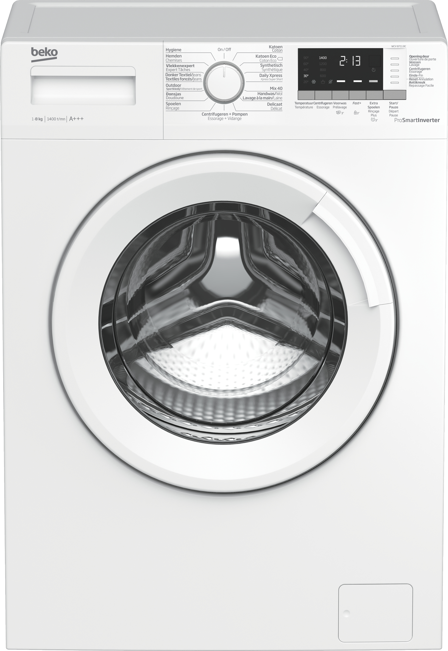 Beko WCV 8711 BC wasmachine die 8 kilo wasgoed