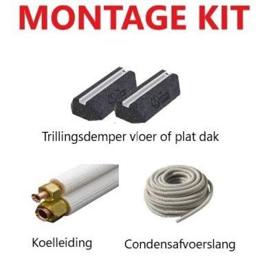 VL233- 3m montage set  - voor vloer of plat dak - 2.5kw 9000btu / 3.5kw 12000btu